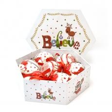 Set 7 globuri delux in cutie cadou, model Reni