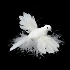 Set 12 porumbei albi cu clips cod16888