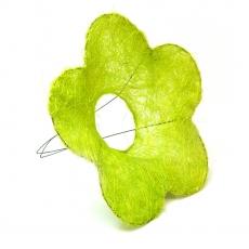 Suport pentru buchet model floare din sizal verde