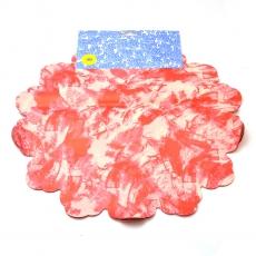 Celofan Rotund 40CM Patat Rosu cu Crem
