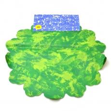 Celofan Rotund 40CM Patat verde cu verde