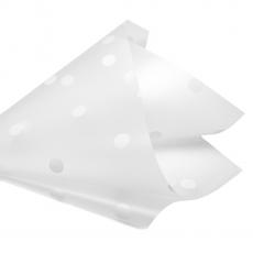 Celofan mat cu buline alb 27-88