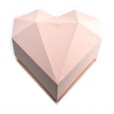Cutie plastic inima diamant roz