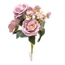 Buchet 6 Trandafiri mov prafuit