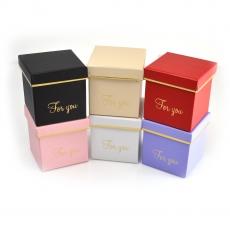 Set 6 cutii patrate 9cm culori mixte