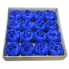 Set 16buc bujori mari de sapun parfumati atingere reala albastru