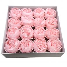 Set 16buc bujori mari de sapun parfumati atingere reala roz