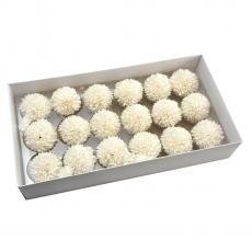 Set 18buc crizanteme de sapun parfumate atingere reala alb