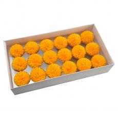 Set 18buc crizanteme de sapun parfumate atingere reala orange