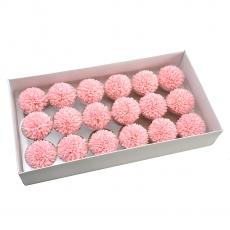Set 18buc crizanteme de sapun parfumate atingere reala roz