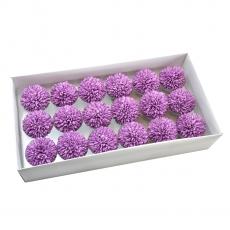 Set 18buc crizanteme de sapun parfumate atingere reala violet