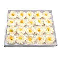 Set 20buc ranunculus de sapun parfumati atingere reala alb