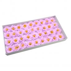 Set 36buc camelii din sapun parfumate atingere reala lila