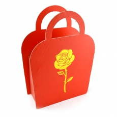 Cutie carton pliabila tip poseta trandafir rosu