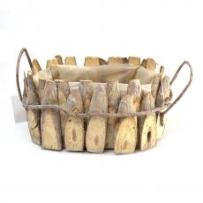 Cos lemne natur cu torti din vie