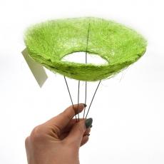 Suport pentru buchet din sizal mic verde