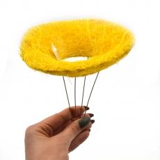 Suport pentru buchet din sizal mic galben