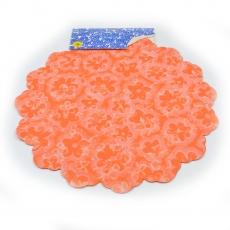 Celofan Rotund 50CM Floricele portocaliu inchis