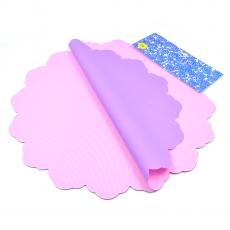 Celofan Rotund 50CM lines roz cu mov