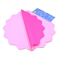 Celofan Rotund 50CM lines roz cu siclam