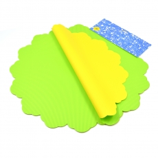 Celofan Rotund 50CM lines verde deschis cu galben