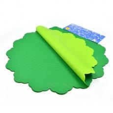 Celofan Rotund 50CM lines verde inchis cu verde