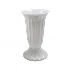Vaza plastic mica 14x24 cm alb