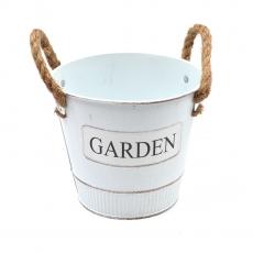Ghiveci tabla Garden alb