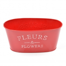 Ghiveci tabla tip jardiniera Fleurs rosu