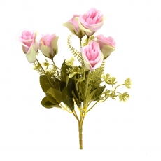 Flori Buchet 6 Trandafiri Madame crem cu roz