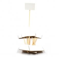 Bete Lemn, Tablita Alba pt Preturi model 2, 10 buc/set
