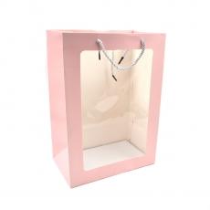 Punga cadou roz cu fata transparenta