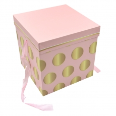 Cutie pliabila subtire patrata model buline roz