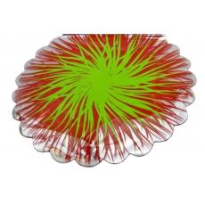 Celofan Rotund Flacari Rosu cu Verde
