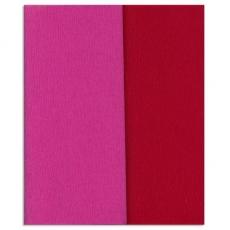 Hartie creponata Gloria Doublette roz-rosu carmin, cod 3350