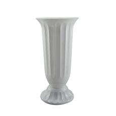 Vaza podea 18x38 cm alb perlat