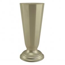 Vaza podea16x38 cm alb perlat