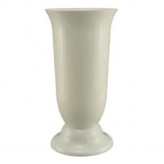 Vaza podea 15x30 cm alb perlat