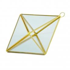 Terariu Geometric Romb Mic Auriu