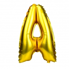 Balon gonflabil auriu 55 cm litera A