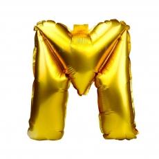 Balon gonflabil auriu 55 cm litera M