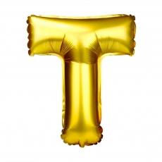 Balon gonflabil auriu 55 cm litera T