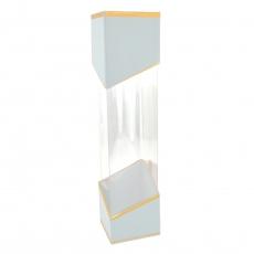 Cutie un fir transparenta alb