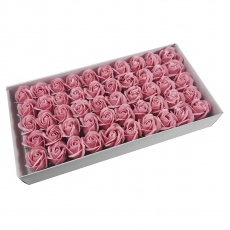 Set 50 trandafiri sapun parfumati, atingere reala, roze prafuit