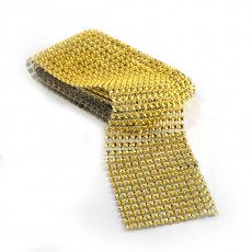 Rola strasuri flexibila 6cm x 1.8m, auriu
