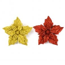Set 2 ornamente craciunita cu sclipici S2 D12