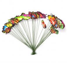 Set 100 fluturi pe sarma cu arc