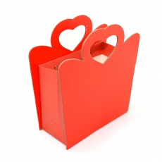 Cutie din carton pliabila maner inima laterale dure, rosu