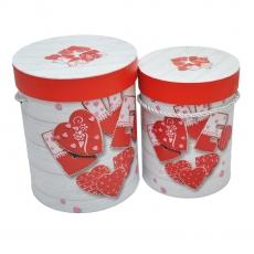 Set 2 cutii cilindrice LOVE march