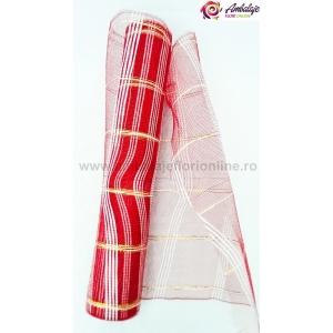 Ambalaje Flori ONLINE vinde Plasa simpla cu fir rosu la pretul de 12.99 lei